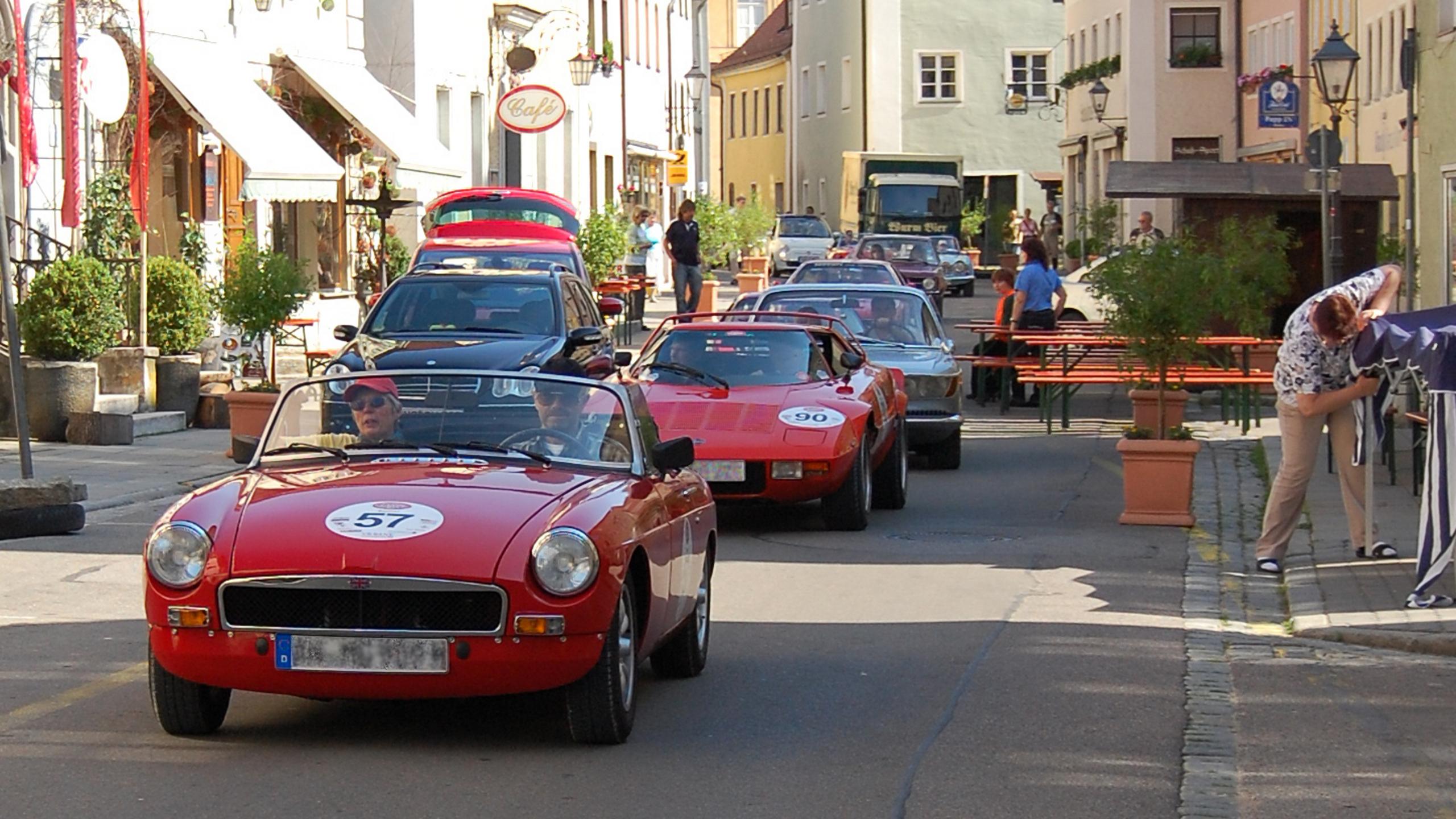 rote Rallye Oldtimer