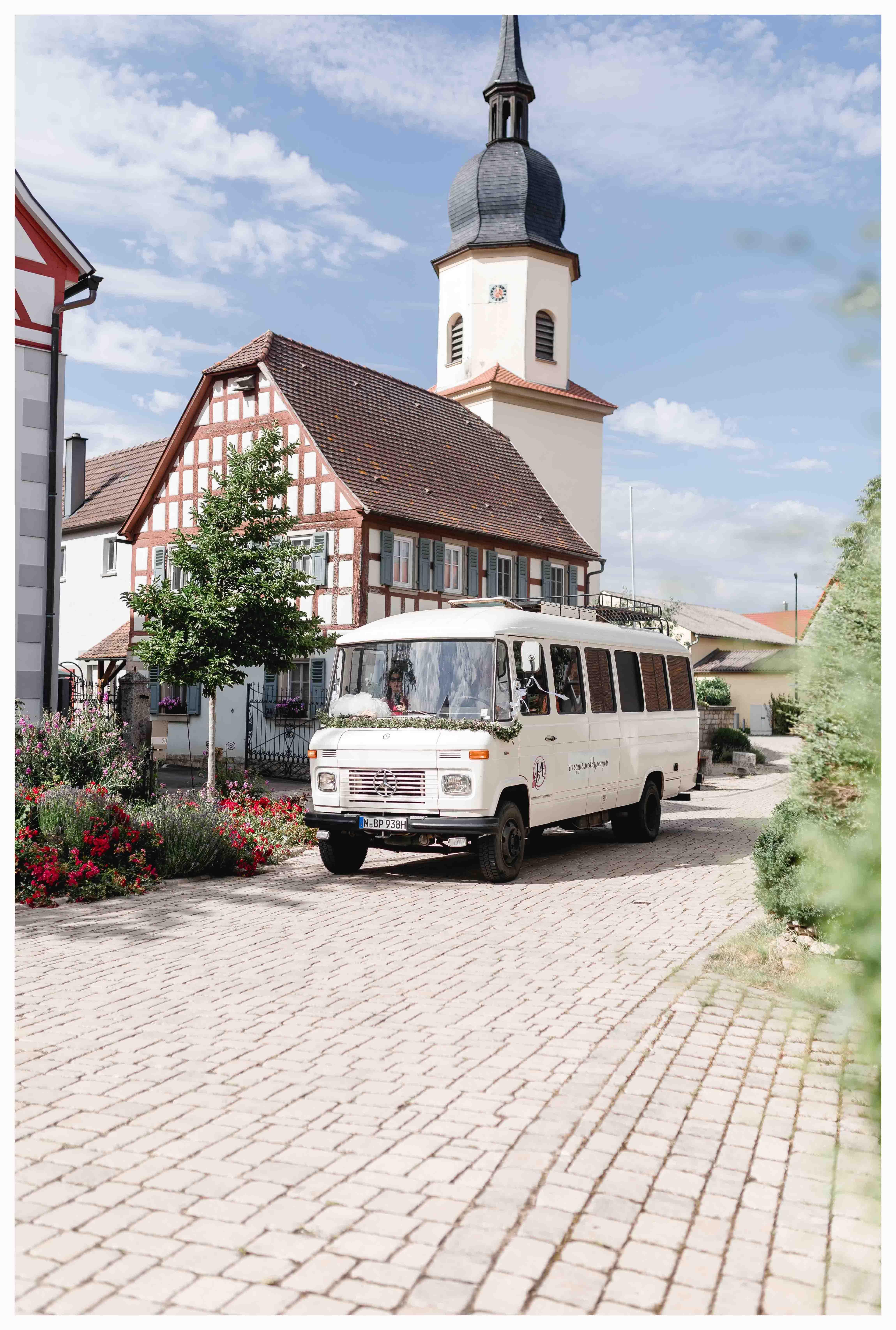 Hochzeitsauto Mercedes Düdo